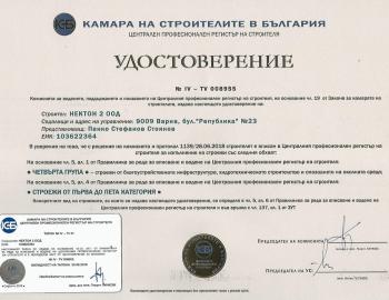 Удостоверение ЦПРС група IV(I- Vк.)