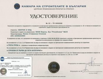 Удостоверение ЦПРС група III(I - Vк.)